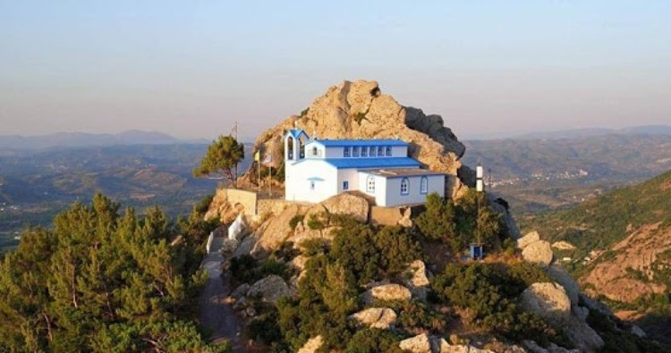 The only temple in Greece built on a volcano 1