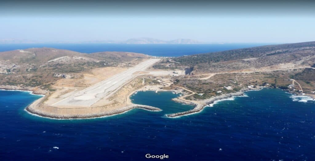 The impressive airports of the Aegean Islands that... touch the sea