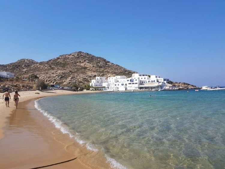 Mylopotas: The petal-beach which has all kinds of shades of blue