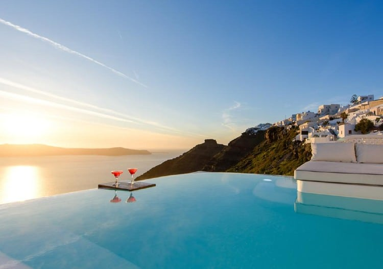 Santorini: The luxurious hotel where you go out on the balcony swimming1