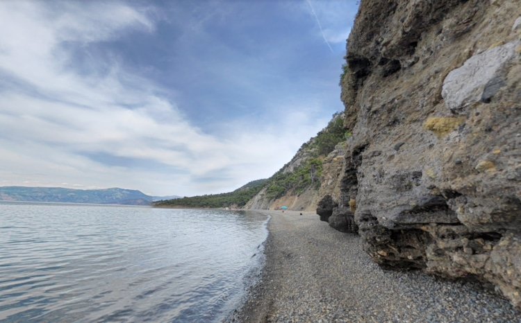 The beach with the river sand an hour away from Athens