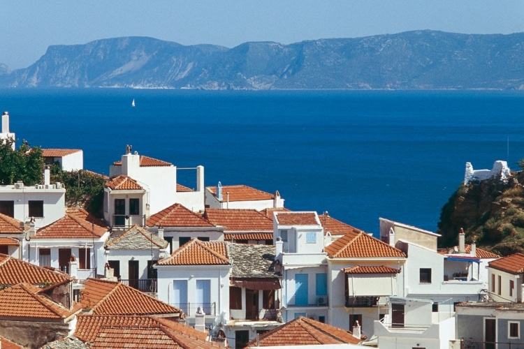 What is a three-day trip on the greenest island in the Aegean