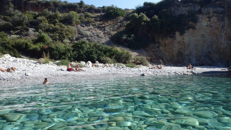 The beach of Foneas and the myth around its name