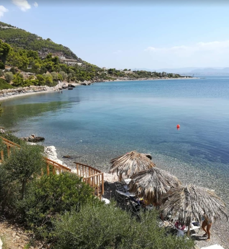 Flabouro: The minion beach with very shallow waters 1.5 hours from Athens