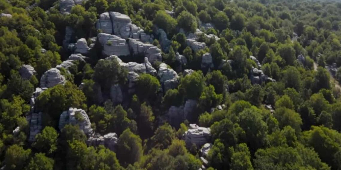 Το συγκλονιστικό Πέτρινο Δάσος της Ελλάδας από ψηλά