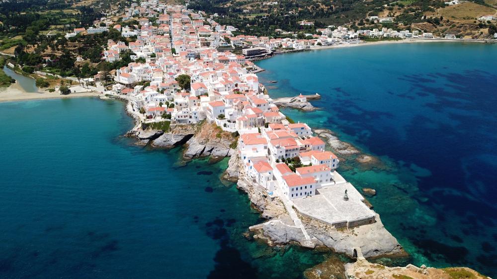 andros aegean sea greece